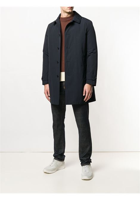Blue cotton blend loose fitted coat  ALBERTO ASPESI |  | 3I41-753250101