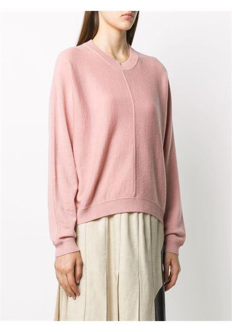 Maglia in lana rosa con lavorazione a maglia fine ALBERTO ASPESI | Maglieria | 5030-396501281