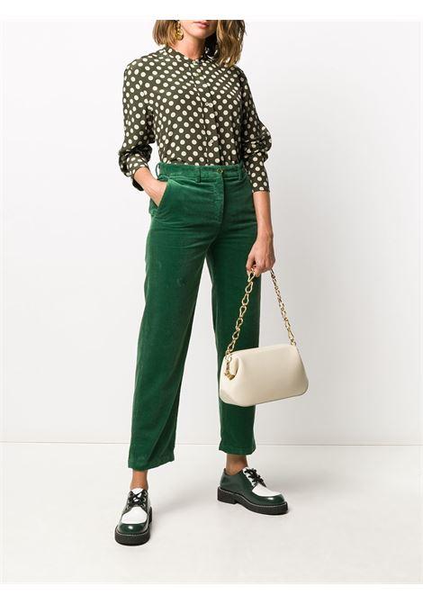 Camicia in seta verde kaki con colletto alla coreana, ASPESI | Camicie | 5402-A32355237