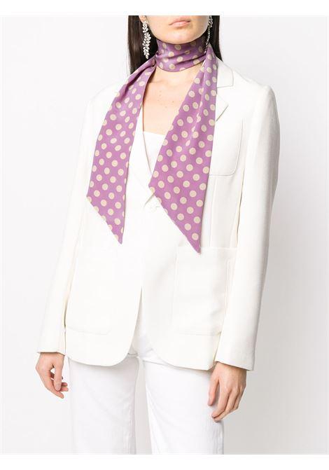 Foulard in seta rosa confetto a pois bianchi con bordo rifinito ALBERTO ASPESI | Sciarpe e foulards | 8809-A32355205