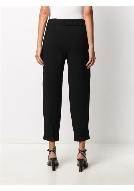 Black pull-on tapered trousers featuring high waist ALBERTO BIANI |  | CC855-AC003090