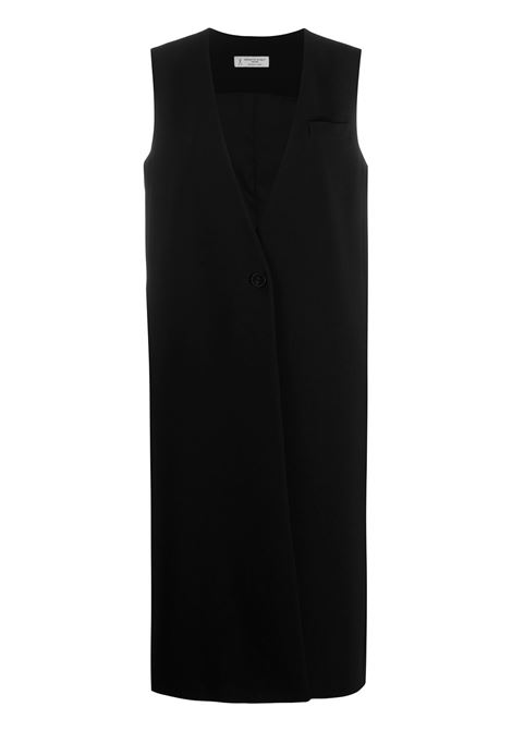 Black sleeveless midi coat featuring V-neck ALBERTO BIANI |  | GG805-AC003090