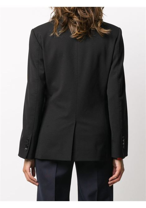 black cotton and virgin wool blazer featuring wide peak lapels ALBERTO BIANI |  | II821-WO024190