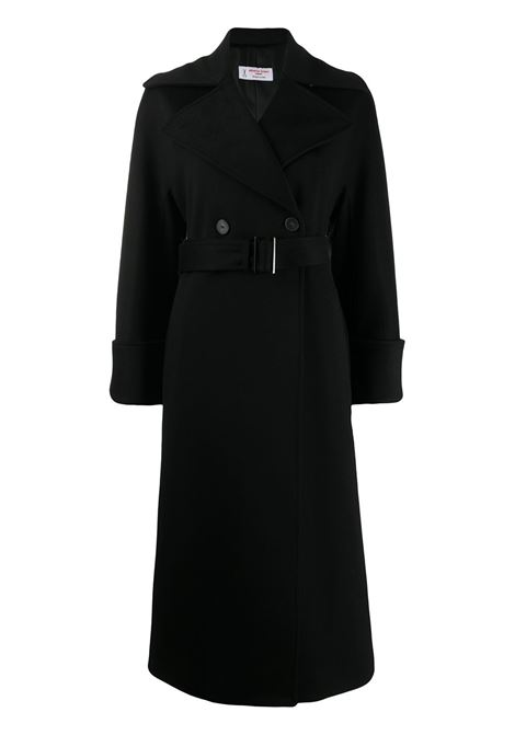 Black cotton single-breasted coat featuring front button fastening ALBERTO BIANI |  | OO814-WO003790