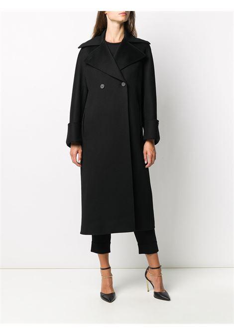 Cappotto monopetto in cotone nero con chiusura frontale con bottoni ALBERTO BIANI | Cappotti | OO814-WO003790
