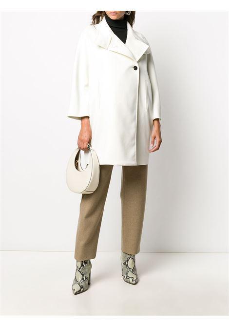 Cappotto a collo alto abbottonato in lana vergine bianca ALBERTO BIANI | Cappotti | OO829-WO003711