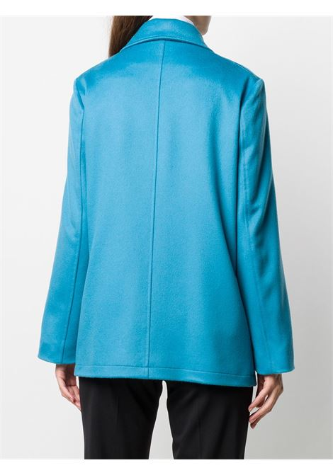 Azure-blue cotton and viscose-blend double-breasted fitted jacket featuring fitted silhouette ALBERTO BIANI |  | PP855-WO003784