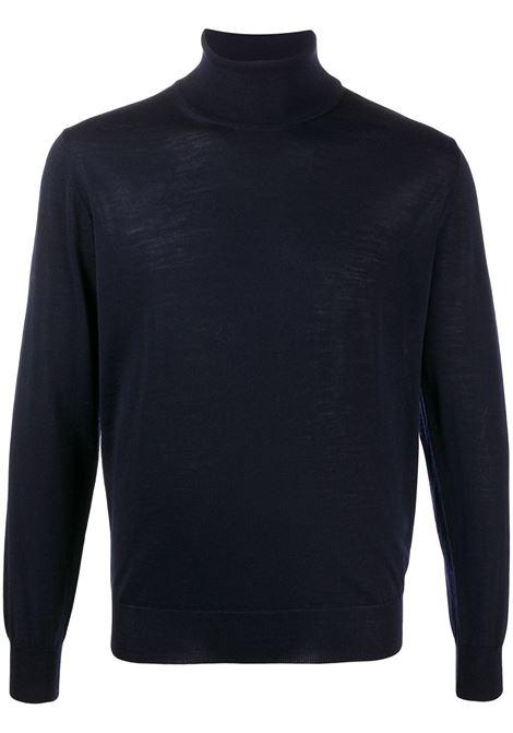 Maglia blu a collo alto in lana vergine ALTEA | Maglieria | 206110101