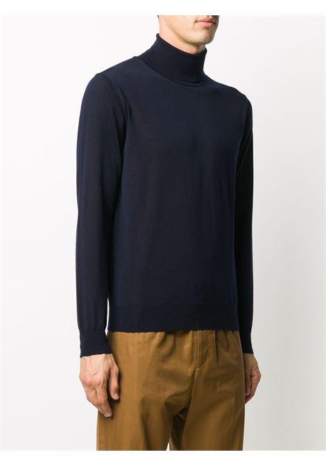 Blue virgin wool knitted turtleneck top  ALTEA |  | 206110101