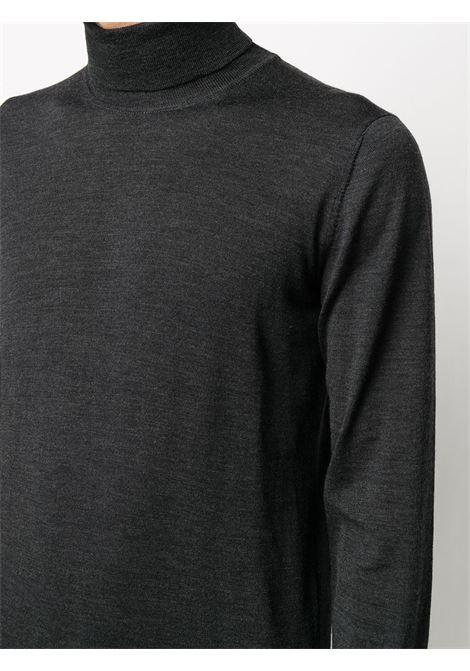 Maglia a collo alto in maglia di lana vergine grigio scuro ALTEA | Maglieria | 206110189