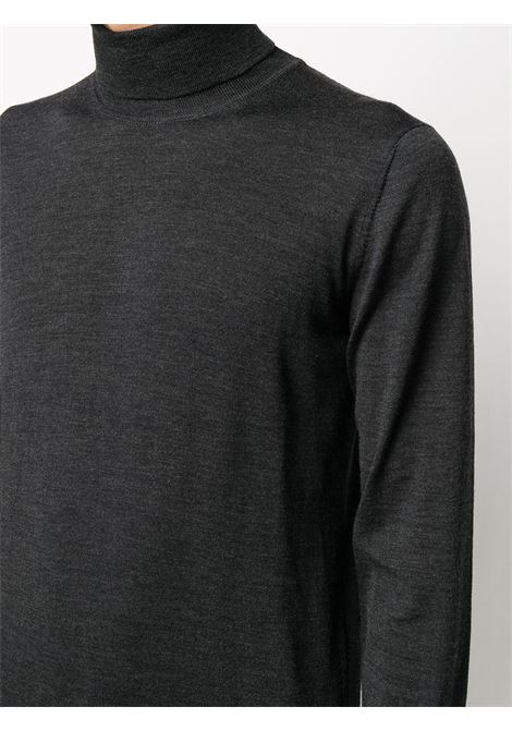Dark grey virgin wool knitted turtleneck top  ALTEA |  | 206110189