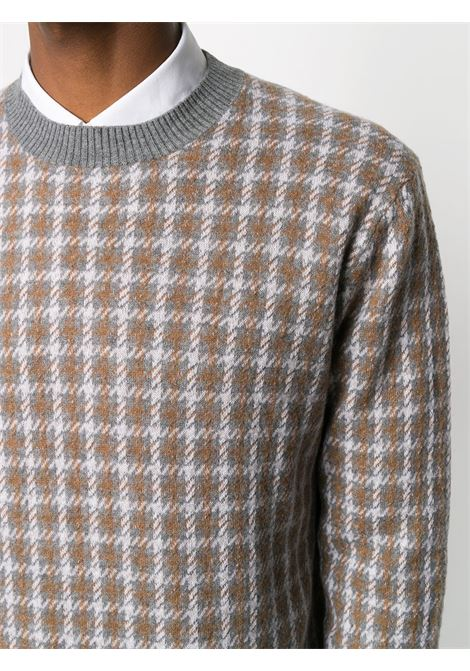 Maglia a maniche lunghe pied de poule in lana grigia ALTEA   Maglieria   206119122