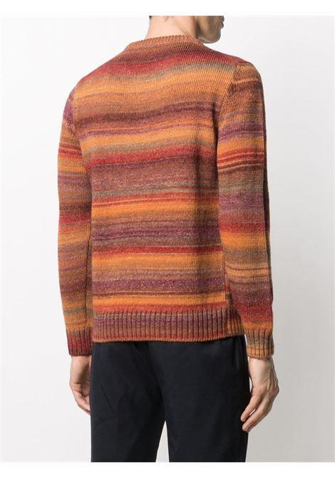 maglione girocollo a righe-ombré in misto lana vergine ALTEA | Maglieria | 206128263