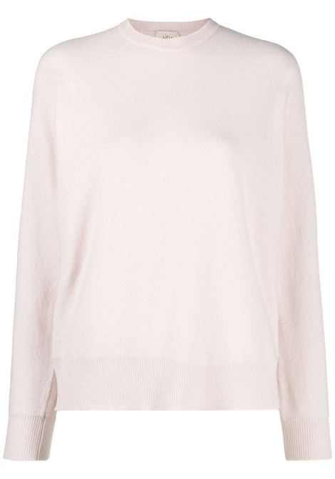 Beige virgin wool and cashmere lightweight knitted top ALTEA |  | 206151225
