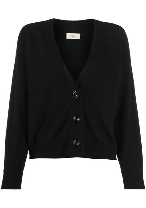 Black virgin wool and cashmere blend long-sleeve cardigan ALTEA |  | 206151490