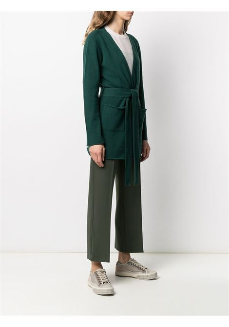 Green virgin wool and cashmere belted cardigan  ALTEA |  | 206151646