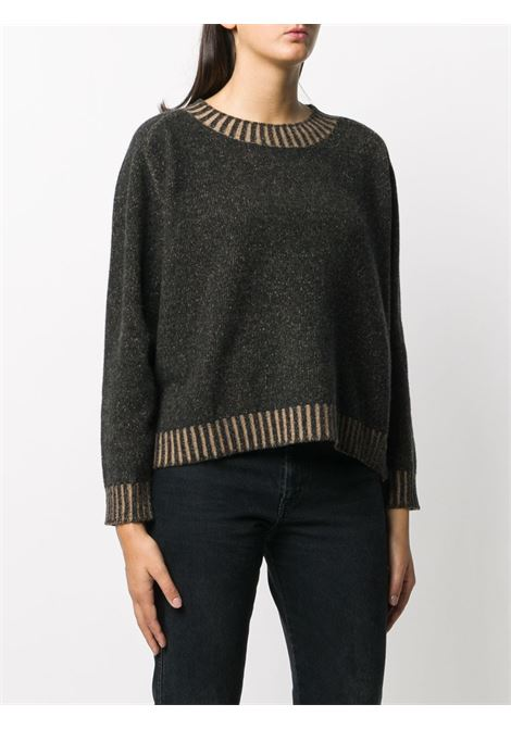 Grey wool-cashmere blend crew-neck knit jumper  ALTEA |  | 206152090