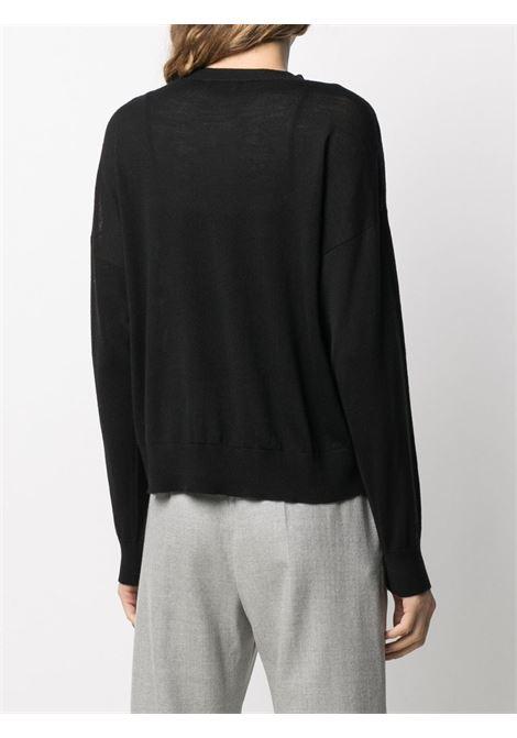maglia leggera di lana vergine nera ALTEA | Maglieria | 206152690