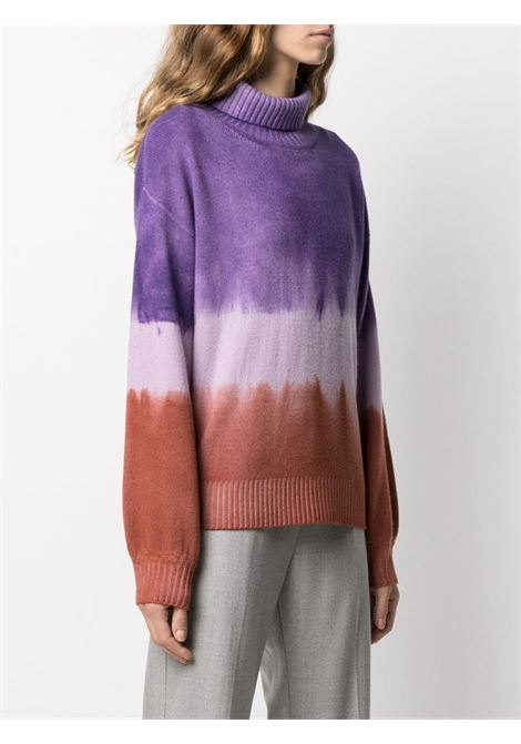Purple and rust red virgin wool and cashmere tie-dye  jumper ALTEA |  | 206156085