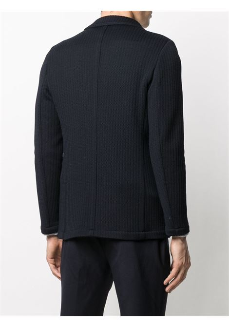 dark navy virgin wool single breasted stripe-knit blazer ALTEA |  | 206232602