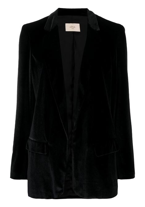 Black velvet single-breasted blazer featuring notched lapels ALTEA |  | 206250790