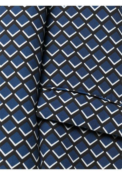 Blazer monopetto con stampa geometrica blu, nera e bianca ALTEA | Giacche | 206250901
