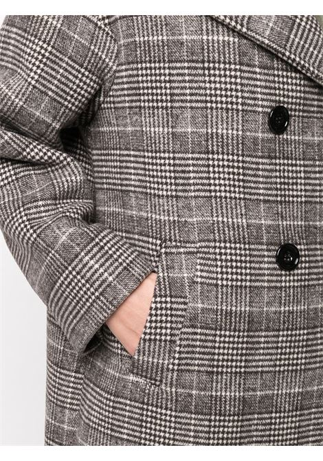 Cappotto doppiopetto marrone con motivo a quadri Principe di Galles ALTEA | Cappotti | 206271939
