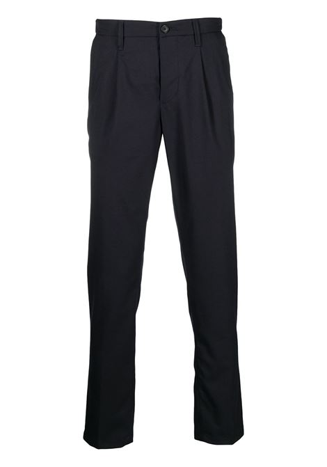 navy pleat-front straight leg trousers  ALTEA |  | 206304701