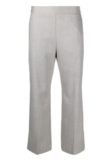 Pantaloni sartoriali cropped in lana vergine grigi con vita alta ALTEA   Pantaloni   206350123