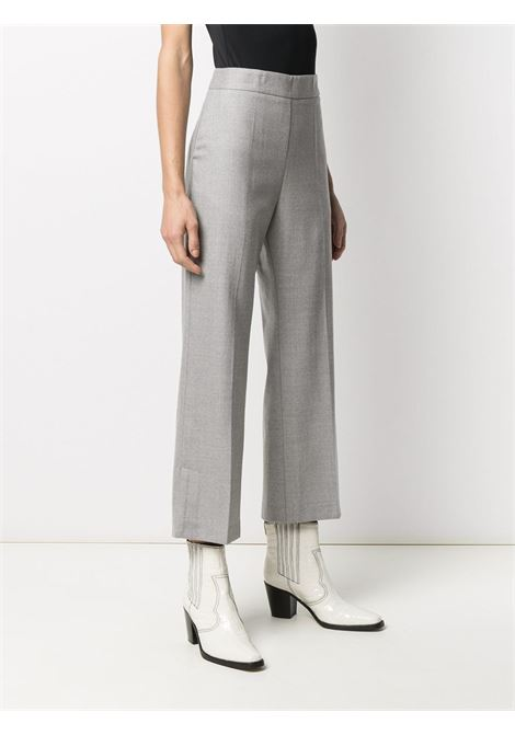 Grey virgin wool cropped tailored trousers featuring high waist ALTEA |  | 206350123