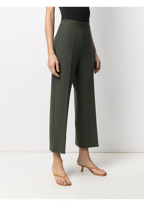 Green virgin wool cropped tailored trousers featuring high waist ALTEA |  | 206350145