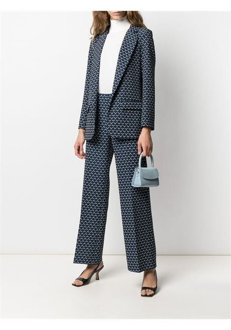 Pantaloni larghi con stampa geometrica blu, nera e bianca ALTEA | Pantaloni | 206350601