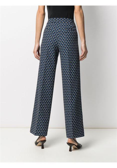 Blue,black and white geometric-print wide-leg trousers  ALTEA |  | 206350601
