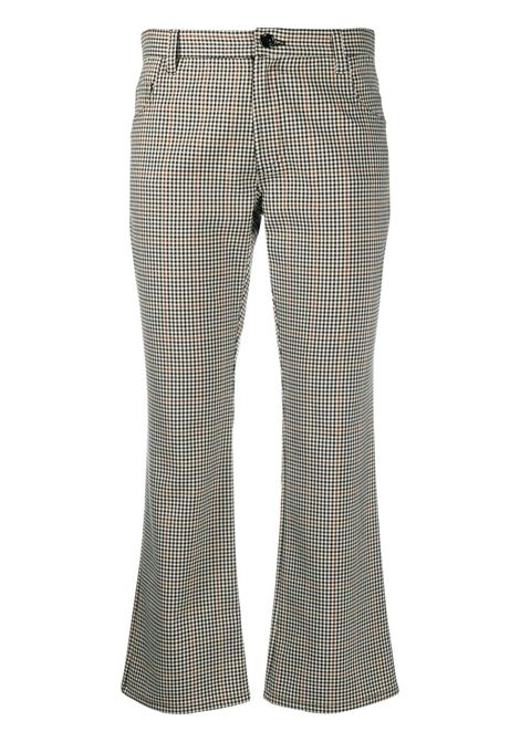 Neutrals polyester-blend gingham check cropped trousers ALTEA |  | 206350890