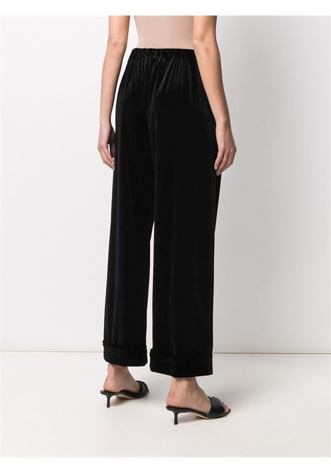 Black velvet wide-leg trousers featuring high waist ALTEA |  | 206355890