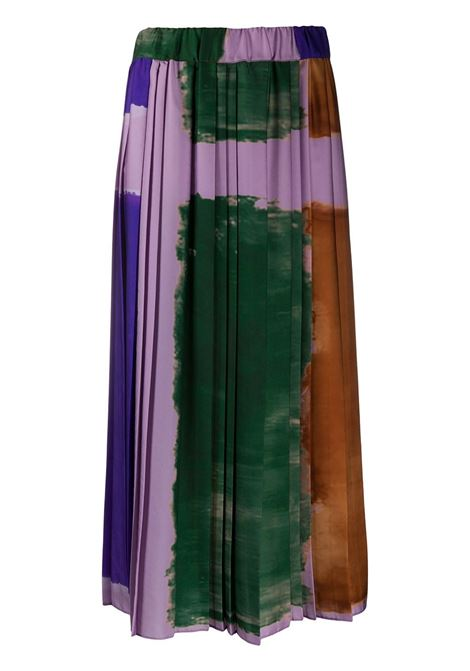 Maxi gonna a trapezio plissettata viola multicolore ALTEA | Gonne | 206370385