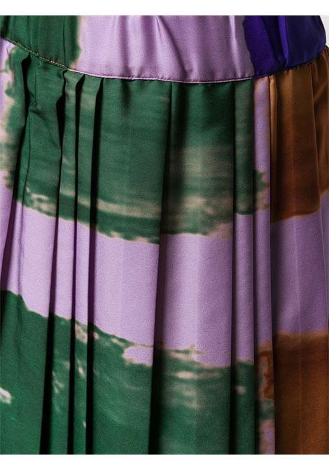 Purple multicoloured pleated maxi A-line skirt  ALTEA |  | 206370385