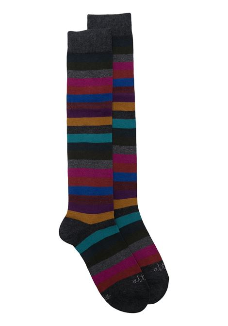 Multicolour stretch cotton striped print mid-length socks ALTEA |  | 206803902