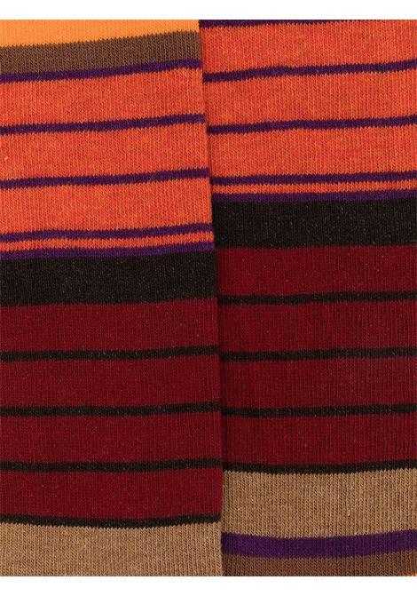 Calze di media lunghezza a righe in cotone elasticizzato rosso multicolore ALTEA | Calze | 206804004