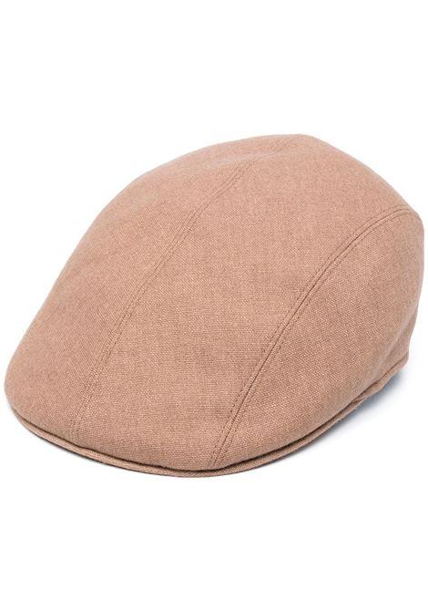 Cappello da driver intrecciato in misto lana vergine color cammello ALTEA | Cappelli | 206812033
