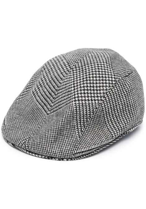 Black and white stretch wool blend houndstooth cap ALTEA |  | 206812129