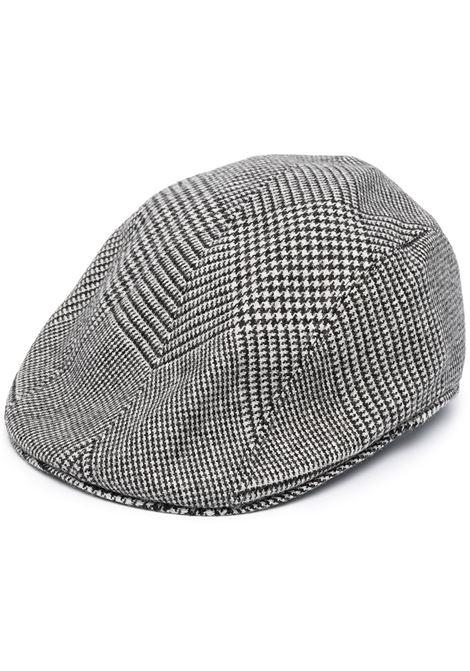 Coppola pied de poule in misto lana stretch bianco e nero ALTEA | Cappelli | 206812129