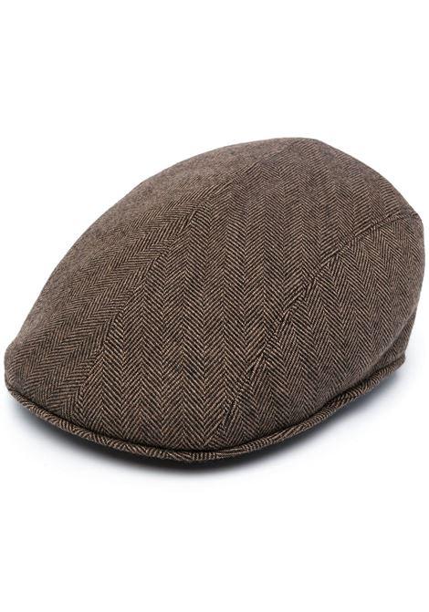 Cappello da driver marrone in misto lana vergine a spina di pesce ALTEA | Cappelli | 206812234