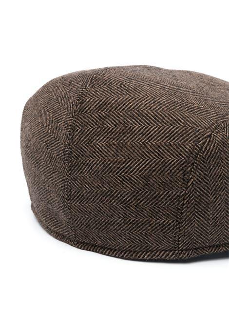 Brown virgin wool-blend herringbone driver cap  ALTEA |  | 206812234