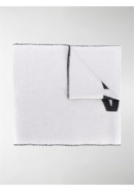 sciarpa con logo Balenciaga in lana 200x30 bianca e nera BALENCIAGA | Sciarpe e foulards | 512732-420B09060