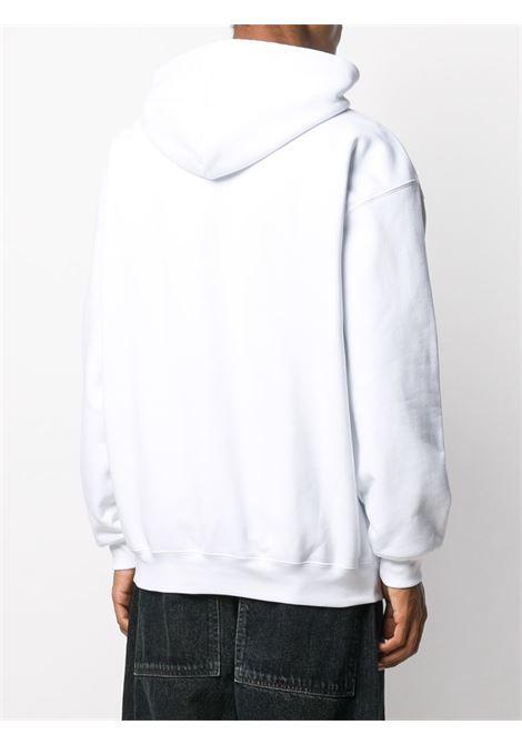 Felpa con cappuccio Trademark in cotone bianco con logo Balenciaga BALENCIAGA   Felpe   570811-TIV559040