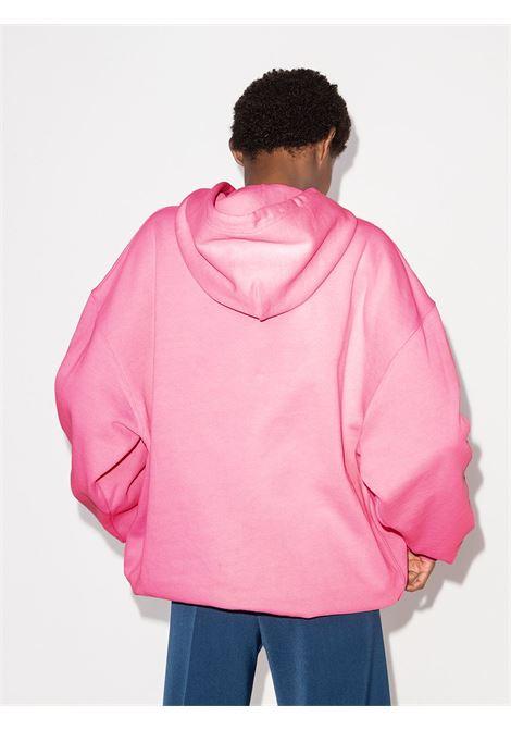 Bubble gum-pink organic cotton oversized Balenciaga logo-print hoodie  BALENCIAGA |  | 578135-TJVE15764