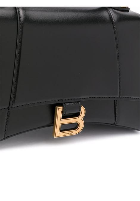 Borsa a tracolla piccola Hourglass in pelle nera BALENCIAGA | Borse a mano | 593546-1QJ4M1000