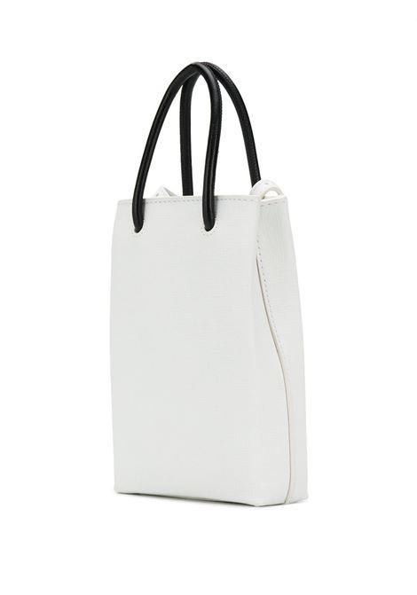 mini shopper bag in white calfskin saffiano leather  with black Balenciaga logo BALENCIAGA |  | 593826-0AI2N9000