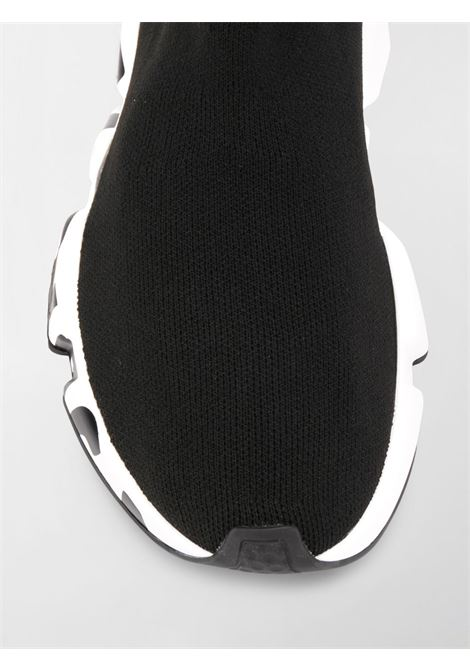 black canvas Speed trainers with Balenciaga logo printed on the white rubber BALENCIAGA |  | 605942-W05GE1015